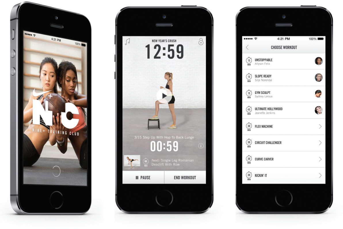 Nike Content Marketing Example - App