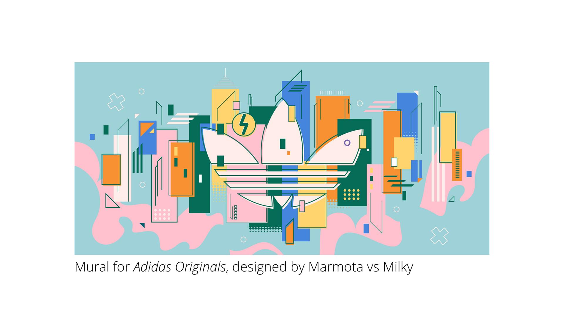 Edge summer 2020 - branding - Adidas mural